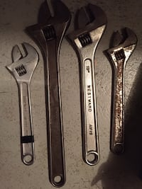 "Adjustable wrenches 18"" and smaller"