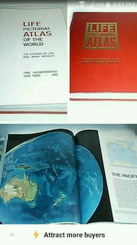 1961 Life Pictorial Atlas of the World book  Toronto, M6M 1T1