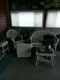 white wicker sofa set and coffee table Milford, 03055