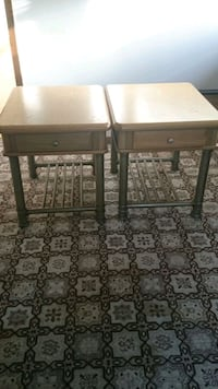 two brown wooden side tables 640 km