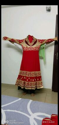 women's red and brown floral dress Mangaluru, 575003
