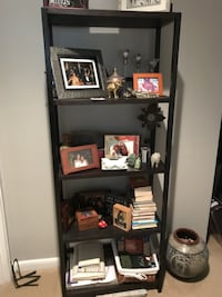 black wooden 5-layer shelf Alexandria