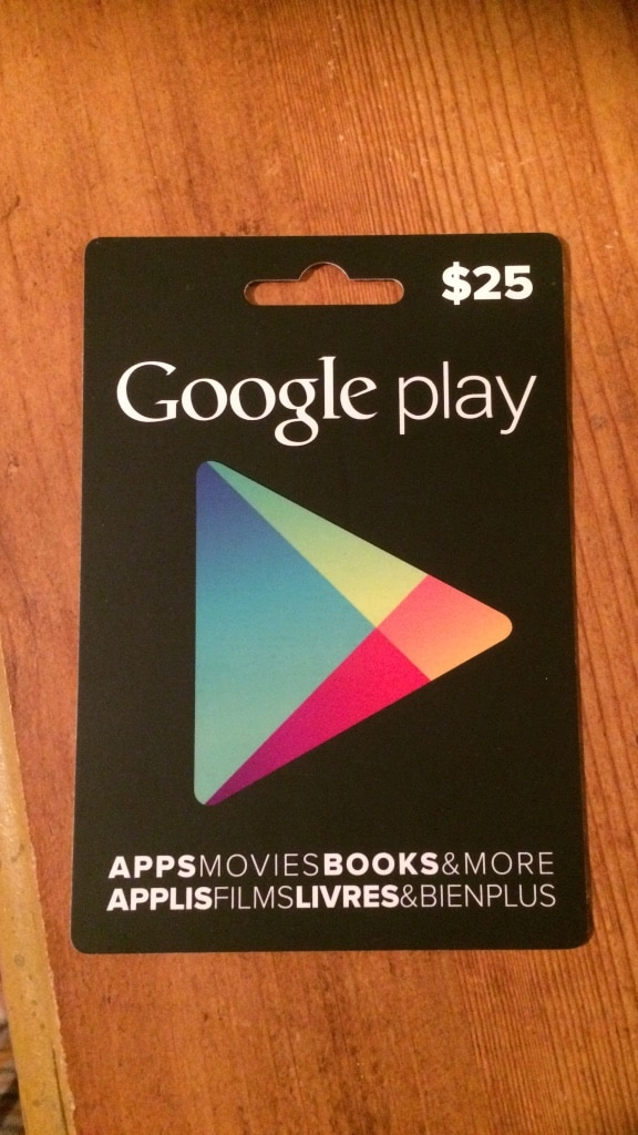 Trade: Google Play 25 Dollar Gift Card for iTunes Gift Card in ...