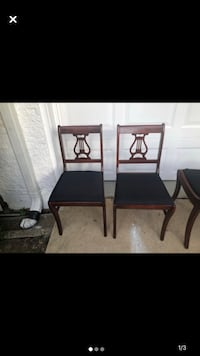 Two black and wooden 1920 antique chairs Alexandria, 22306