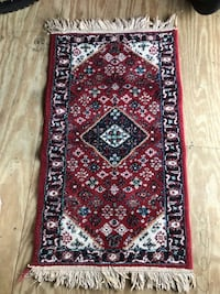 Red and white floral area rug Melbourne, 32901
