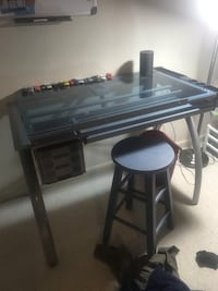 Adjustable glass desk - price good for one day!