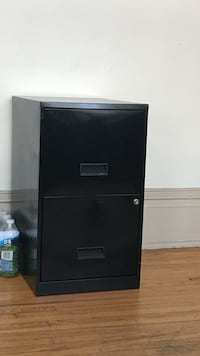 black metal 2-drawers filing cabinet
