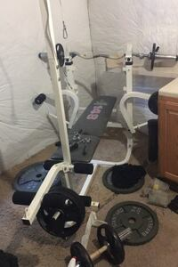 Weider 148 bench and 252# of weights plus bars