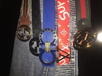 two black and blue Gucci leather belts Boyds, 20841