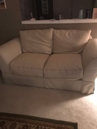 white fabric 2-seat sofa 511 mi