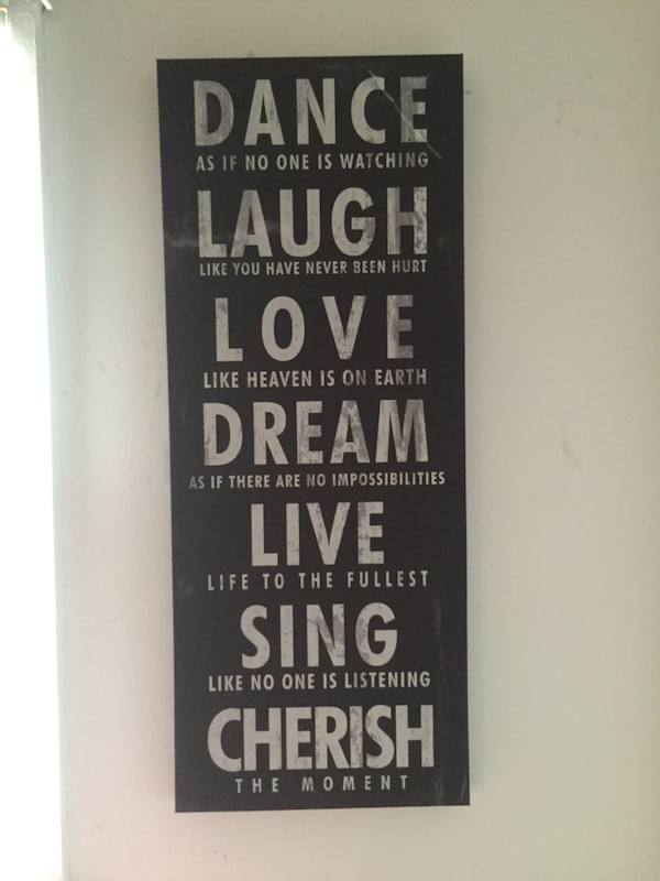 Used Dance Laugh Love Dream Live Sing Cherish Wall Art For Sale In