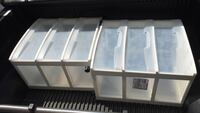 Two white plastic drawers chest Mount Airy