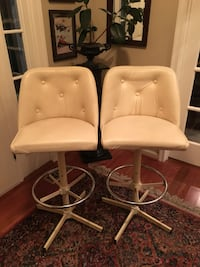 2 Leather Bar Stools Washington