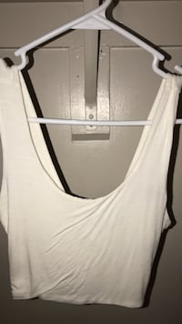 White sleeveless top Lanham, 20706