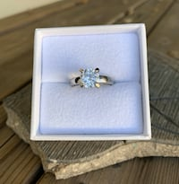 """2CT. Simulated Diamond, Silver Engagement Ring Size 7"""" Brand New! Redlands, 92374"""