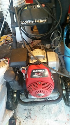 black and red Honda GC pressure washer