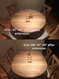 Dinning table set with extension piece Vancouver, V6E 1T6