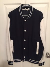 Navy Blue & White Varsity Jacket Brampton, L6W