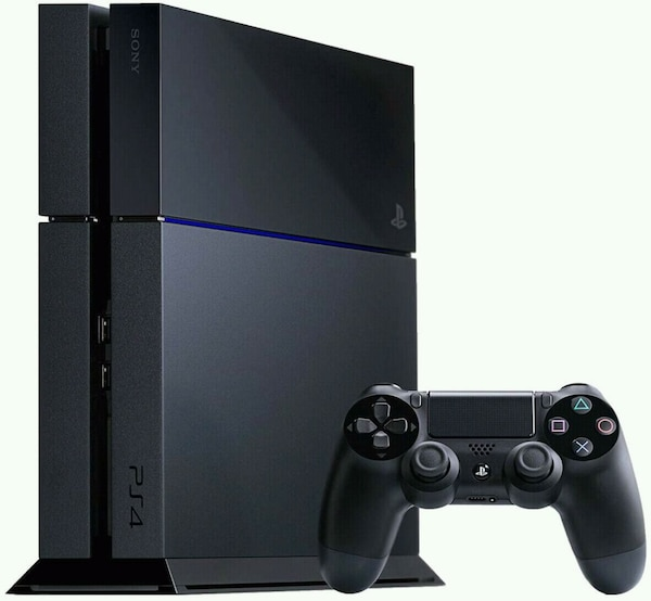 black Sony PS4 with DualShock 4