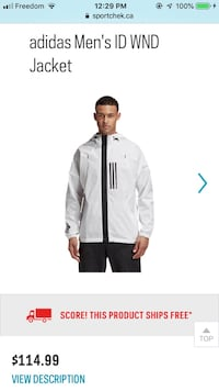 BNWT Men's Adidas ID WND Jacket
