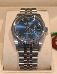 Rolex Datejust 36mm with Blue Roman Numeral Dial Irvine, 92612