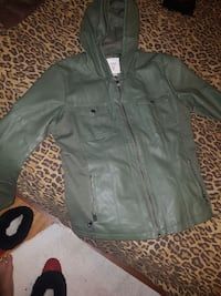 GUESS leather jacket  large