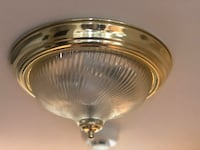 Brass ceiling light fixture with glass Mc Lean, 22101
