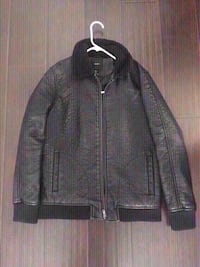 New forever 21 black leather jacket size small. Colton, 92324