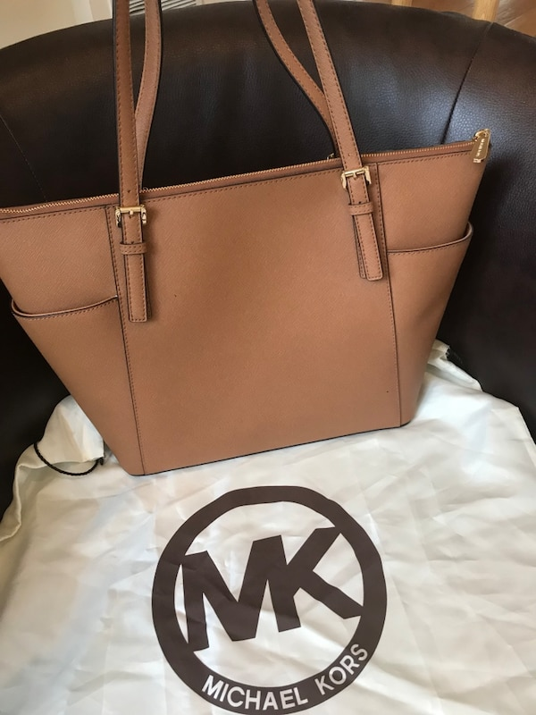 a2a264666798 Used Brown Michael Kors leather tote bag for sale in Wayne - letgo