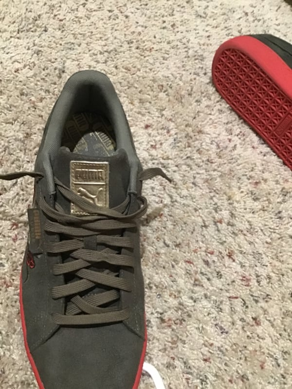 Suede Olive green on red bottom pumas  c07e19ee-d13d-4e16-8093-dcbcceb611df