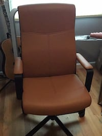 brown wooden framed brown padded armchair Escondido, 92029