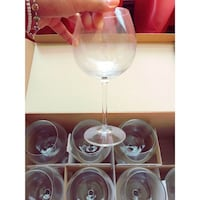 Set of 8 wine glasses with stems