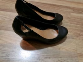 Black wedge heel 7