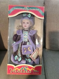 Limited edition of fine porcelain doll Vanessa collection
