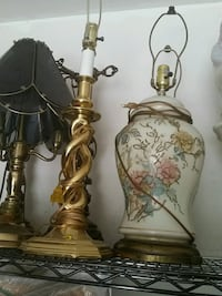 two brass-colored table lamps 7 km