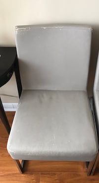 Metallic and grey leather dinning chairs Mississauga, L5B