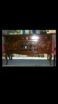 Solid wood buffet table