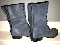 ALDO BLUE BOOTS size 7 . Wore a couple times Nanaimo, V9T 2N6