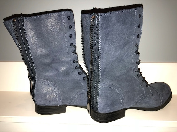 2e7c334fd30b Used ALDO BLUE BOOTS size 7 . Wore a couple times for sale in ...
