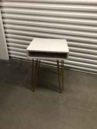 Target White Side Table with Gold Legs WOBURN