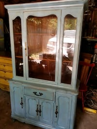Antique French Country China Cabinet Spring, 77373