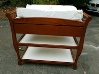 brown wooden 3-layer changing table Arlington Heights, 60004