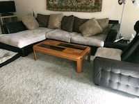 brown tan and black sectional couch Marietta, 30064