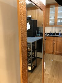 Full length mosaic bronze mirror