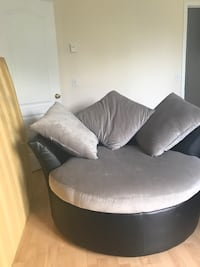 white and black fabric sofa chair Brossard, J4W 3L2
