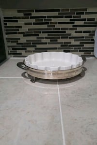 Silver plated round buffet