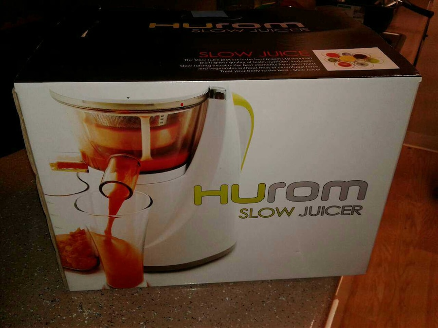 Hurom Hu 100 Slow Juicer Manual : Used Hurom slow juicer hu-100 model in Sacramento
