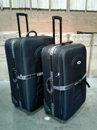 two black luggage bags
