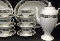VINTAGE WEDGWOOD ASIA COFFEE SET POT 6 CUPS & SAUCERS BONE CHINA  Mississauga, L4X 1S2