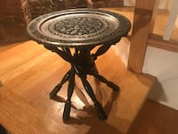 Mediterranean Side Table with Silver Copper Plate  Washington, 20003